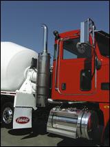 Exhaust stack of the Peterbilt 365 truck