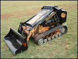 Ditch Witch's SK350 mini-skid-steer loader, painted and named the Super Witch VI