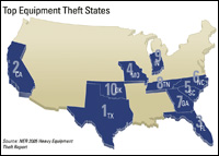 Illustration--Top Equipmnet Theft States
