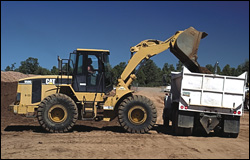 Caterpillar wheel loader with Trimble Construction Manager system