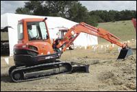 Kubota U-Series mini-excavator