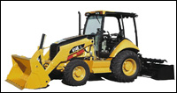 Caterpillar 414E industrial loader tractor