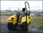 Wacker asphalt roller
