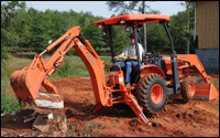 Kubota's B26 compact backhoe loader