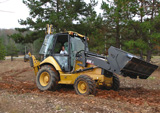 Backhoe-loader with Michelin off-road radial tire