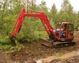 Kubota's KXO80-3 crawler excavator