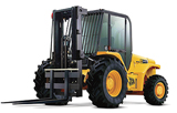 JCB rough-terrain, straight-mast forklift