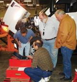 Laptop training for equipment management