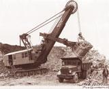 Bucyrus Erie 120 B mining shovel