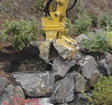 PSM DM05 Mini-Clam Rotating Clamshell Excavator Attachment