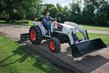Bobcat compact tractor with loader