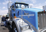 Natural-gas powered Kenworth heavy trucks