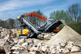 Rubble Master RM100 mobile crusher