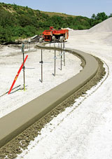 MBW curb and gutter paver