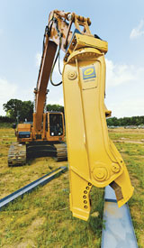 Geith Precision Steel Shear Excavator Attachment