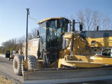 Topcon guidance on Caterpillar motor graders cuts cost from Interstate Highway Constructon's processes