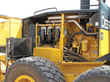 John Deere G Series motor grader right side service panel
