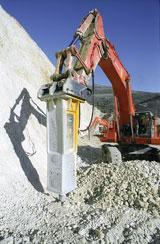 Indeco HP25000 hydraulic hammer