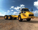 Caterpillar bare-frame articulated truck