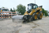 CEAttachments Edge Hopper Brooms for skid steers