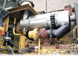 Cat Diesel Particulate Filter installed on a 2001 972G wheel loader