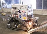 Miskin-sponsored robotic scraper at NASA's 2009 Regolith Excavation Challenge