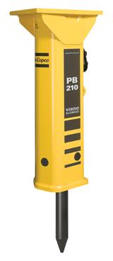 Atlas Copco PB 210 hydraulic breaker attachment for skid steer loader