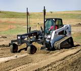 Bobcat grader attachment for skid steer loaders