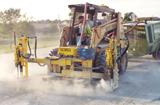 E-Z Drill Model 210 Twin Vertical concrete drilling attachment for skid steer loader