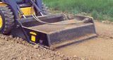 Rockaway landscaping attachment for skid steers