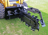 Lowe Manufacturing trencher attachment for skid steer
