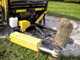 Sidney Timberline TBL1000 tree shear attachment for skid steer loaders