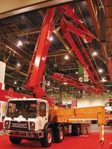 Sany 46 meter concrete pump truck