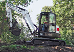 Bobcat E50 mini excavator