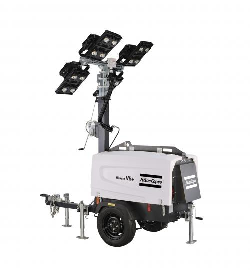 Atlas Copco HiLight V4 And HiLight V5+ Light Towers With