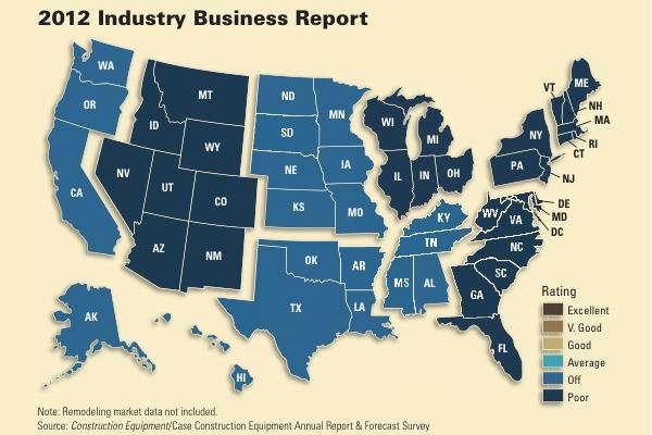 Business rankings last year were split regionally.