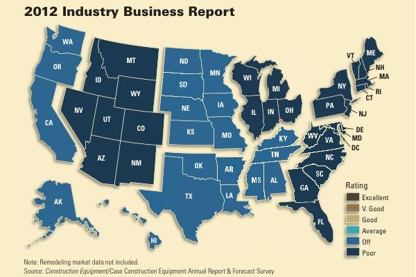Business rankings last year were split regionally.