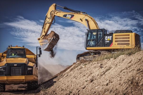 Caterpillar's first hybrid excavator, the Cat 336E H.